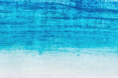 Blue acrylic brush strokes, shapes and gradients Stock Photos