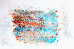 Blue acrylic brush strokes, shapes and gradients Royalty Free Stock Photography
