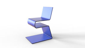 Blue acrylic chair concept 3d rendering. Acrylic chair concept 3d rendering Royalty Free Stock Image
