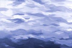 Blue acrylic  texture Stock Photos