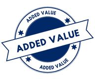Blue ADDED VALUE stamp. Illustration graphic concept image Stock Photo