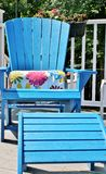 Blue Adirondack chair Stock Photos