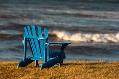 Blue adirondack chair Royalty Free Stock Photo
