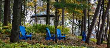 Blue Adirondack Chairs Stock Images