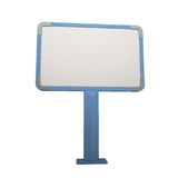 Blue advertising stand Royalty Free Stock Images