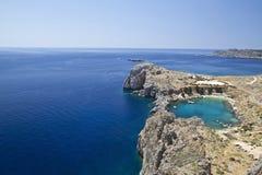 Blue Aegean Sea. Beautiful landscape of blue and calm Aegean Sea Stock Image