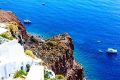Blue Aegean Sea in Santorini, Greece Royalty Free Stock Photo