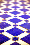 Blue  in africa  tile the colorated Stock Image