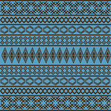 Blue African texture Royalty Free Stock Photo