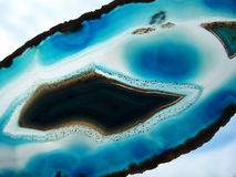 Blue agate Royalty Free Stock Image