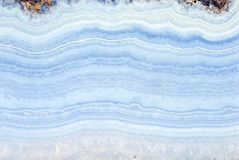 Blue agate. Slab close  up Royalty Free Stock Photography