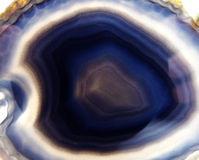 Blue agate chalcedony geological crystals Royalty Free Stock Images