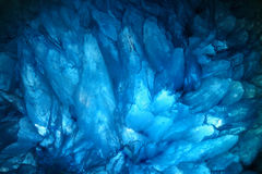 Blue agate cyrstals Royalty Free Stock Photo