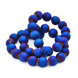 Blue agate druzy beads Stock Photography