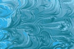Blue agate marble texture or ink patterns royalty free illustration