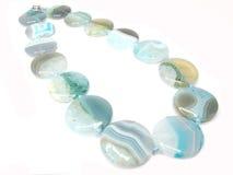 Blue Agate Semigem Beads Jewellery Stock Photo