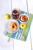 Blue Agave Walnut Pancakes Royalty Free Stock Photo