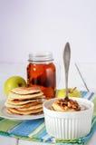Blue Agave Walnut Pancakes Royalty Free Stock Image