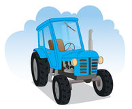 Blue agricultural tractor Stock Photos
