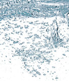 Blue air bubbles in water Royalty Free Stock Image