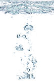 Blue air bubbles in water Stock Images