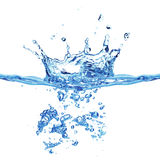 Blue air bubbles in water Stock Photos
