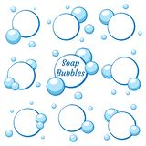 Blue air bubbles from water vector illustration