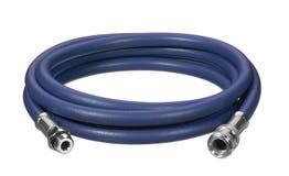 Blue air hose Stock Image