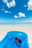 Blue air mattress vertical Royalty Free Stock Images