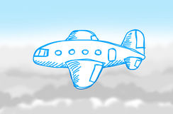 Blue aircraft Royalty Free Stock Photo