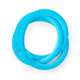 Blue airless solid bicycle tires Royalty Free Stock Photo