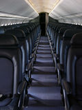 Blue Airline Seats Royalty Free Stock Images