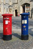 Blue Airmail Post Box Royalty Free Stock Images