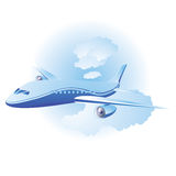 Blue airplane Stock Photography