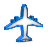 Blue airplane icon Stock Photography