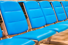 Blue Airport Seats Stock Photos