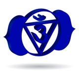 Blue Ajna chakra Royalty Free Stock Photo