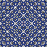 Blue Ajrak Pattern Royalty Free Stock Photo
