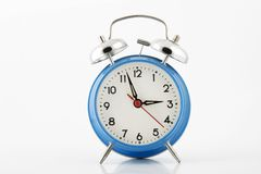 Blue alarm-clock Stock Photos