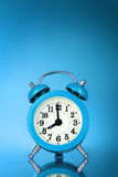 Blue Alarm-clock Royalty Free Stock Images