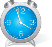 Blue alarm clock. Stock Image