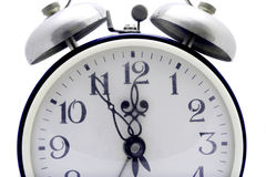 Blue alarm clock Stock Photography