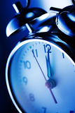 Blue alarm clock Royalty Free Stock Images