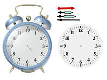 Blue alarm clock. 3d render. Put yourself time Royalty Free Stock Images
