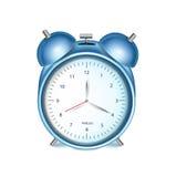 Blue alarm clock isolated on white Royalty Free Stock Image