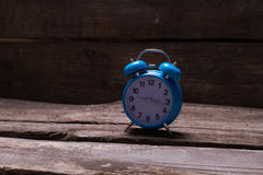 Blue alarm clock. Royalty Free Stock Image