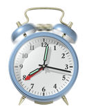 Blue alarm clock ringing. Royalty Free Stock Photos