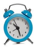 Blue alarm clock Royalty Free Stock Photography