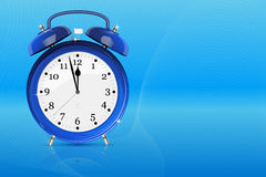 Blue alarm retro clock Stock Photography