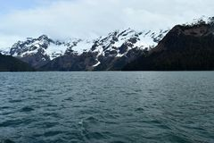 Alaskan Mountains and Lake Royalty Free Stock Photo
